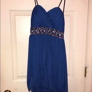 Blue High-Low Formal Dress